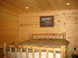bedroom Knotty Pine Panel, T&G Decking, T&G Flooring, Log Cabin Siding
